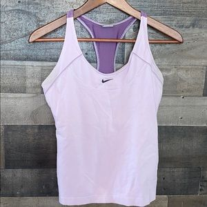 Purple Nike Tank Top With Support Bra